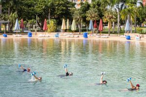 Aqua fitness in the Wave Lagoon - St Kilda Accommodation