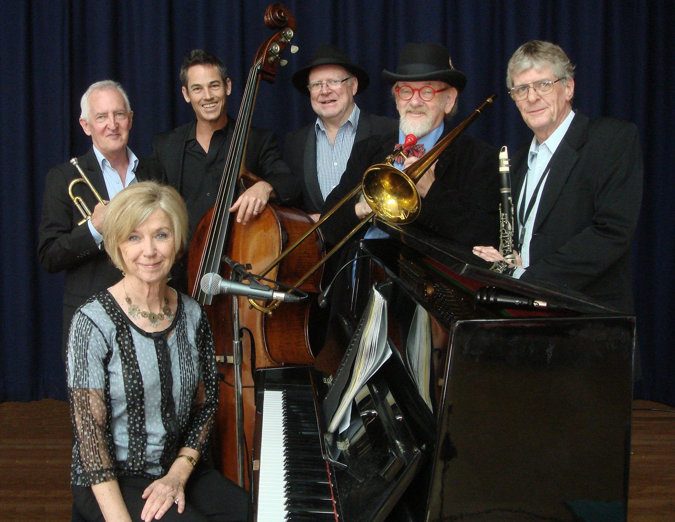 The Caxton Street Jazz Band in the Swigmore Hall at Robert Channon Wines - St Kilda Accommodation