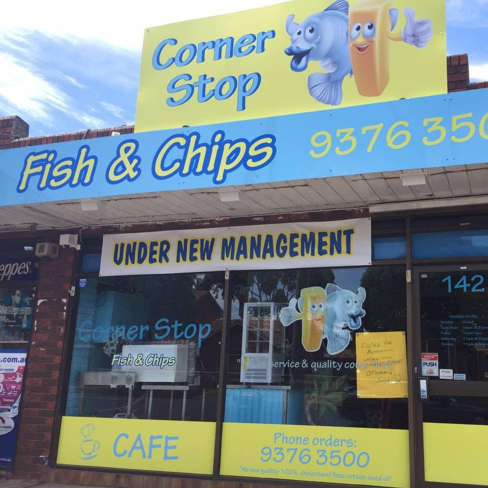 Corner Stop Fish  Chips Cafe - St Kilda Accommodation